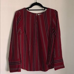 Striped monteau blouse